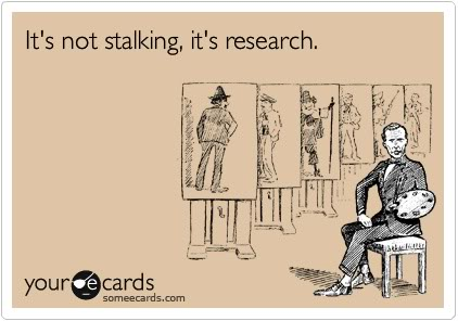 Its not stalking its research card