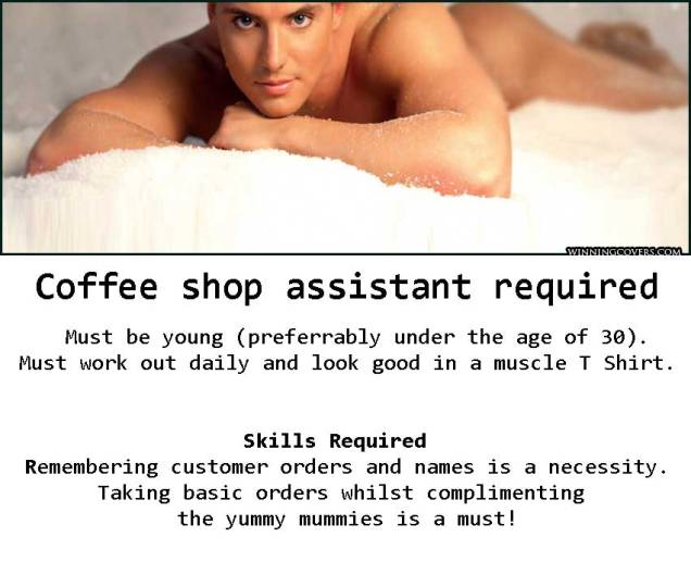 Coffee-shop-assistant-required Hot-man